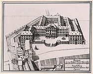 Plan der Karlsburg nach Rossi, 1698