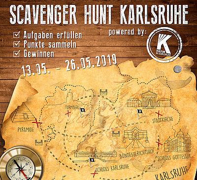 Scavenger Hunt Karlsruhe. Grafik: pm