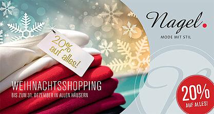 Weihnachtsshopping bei Modehaus Nagel. Grafik: pm
