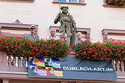 Bereit für die DURLACH-ART (v.l.): Wolfgang Semmler, Samuel Degen und Karlheinz Raviol. Foto: cg