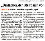 Wochenblatt vom 13. Februar 2008