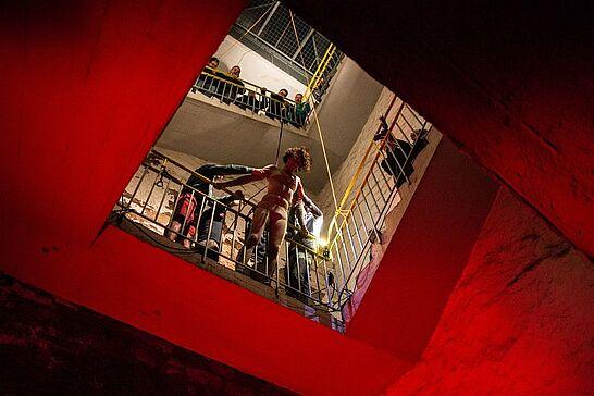 """17 """"Go Turmberg"""" – HfG Karlsruhe - Die HfG Karlsruhe präsentierte mit """"Go Turmberg"""" eine multimediale Inszenierung. (35 Fotos)"""