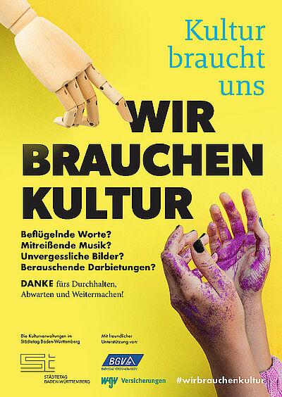 """Kultur braucht uns – wir brauchen Kultur!"" Grafik: pia"