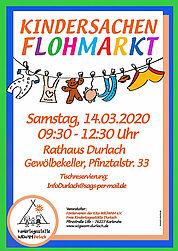 Großer Flohmarkt für Kinderbekleidung und Spielsachen. Grafik: pm
