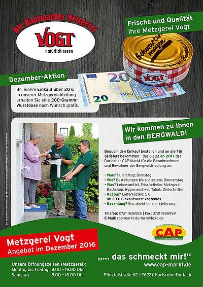 Metzgerei Vogt: Angebot im Dezember 2016