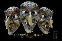 Masken der Dornwaldhexen. Foto: pm