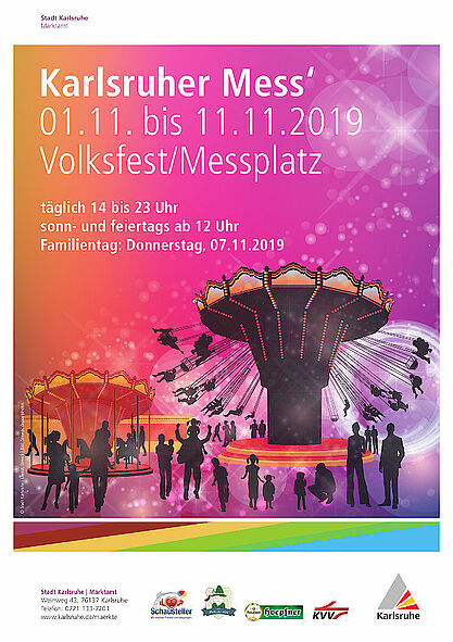 Karlsruher Herbstmess' vom 1. bis 11. November 2019. Grafik: pm
