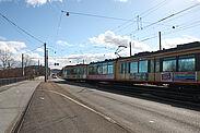 Gleisbauarbeiten zwischen Tullastraße und Karlsruhe-Durlach machen einen Schienenersatzverkehr vom 9. bis 12. März erforderlich. Foto: cg