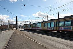 """Betroffener Streckenabschnitt zwischen """"Auer Straße"""" und """"Untermühlstraße"""". Foto: cg"""