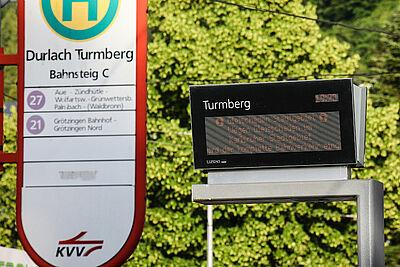 Durlach Turmberg (Endhaltestelle). Foto: cg