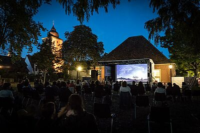 """Wie beim """"Durlacher Kultursommer"""" 2020 sind auch in diesem Jahr Veranstaltungen in Durlach geplant: Open-Air-Kino auf dem Alten Friedhof und Theater im Schlossgarten sind zwei Ideen davon. Foto: cg"""