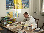 Künstlerisches Arbeiten im Atelier. Foto: pm
