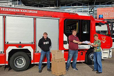Der Feuerwehr neue Kleider. Foto: pm
