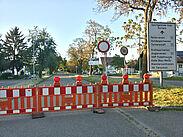 Sperrrung der Hubbrücke. Foto: cg