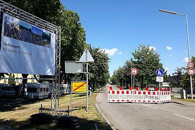 Alte Weingartener Straße gesperrt. Foto: cg