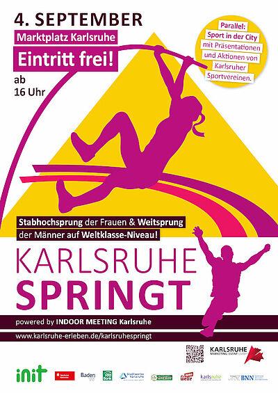 Karlsruhe springt – Sport in der City am 4. September. Grafik: KME Karlsruhe Marketing und Event GmbH