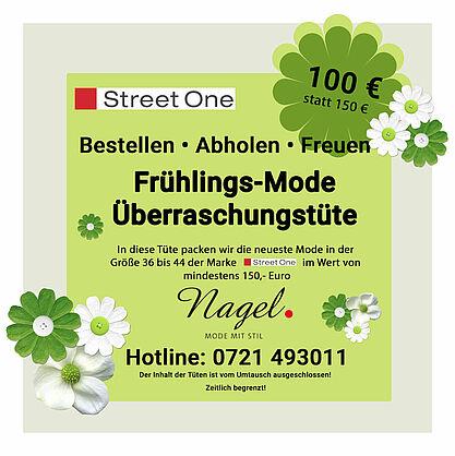 Bestellen – Abholen – Freuen: Ihre Frühlings-Mode Überraschungstüte von Nagel. Grafik: pm