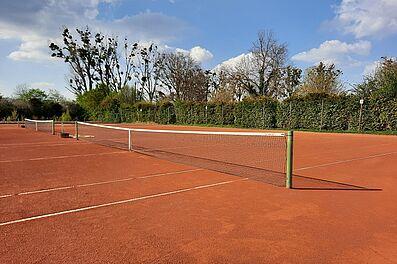 """Die Tennisplätze auf der """"Unteren Hub"""" wurden instand gesetzt, so dass die Saison für die Tennis-Abteilung bereits starten konnte. Foto: pm"""
