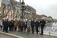 Um die strategisch vertiefte Partnerschaft weiterzuentwickeln, besuchte eine Karlsruher Verwaltungsdelegation Straßburg (im Bild die Ill-Brücke Pont Sainte Madeleine). Foto: Stadt Karlsruhe