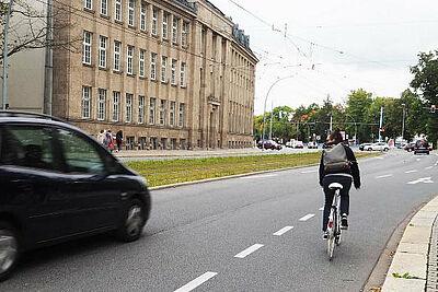 Zur Verkehrssicherheit werden Radfahrende diese Woche befragt. Foto: pm