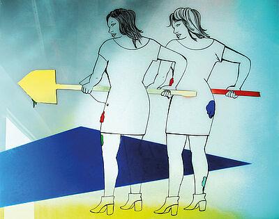 Zeichnung, Malerei, Grafik, Narration, 3D – das erwartet Besucher der Ausstellung. Grafik: pm