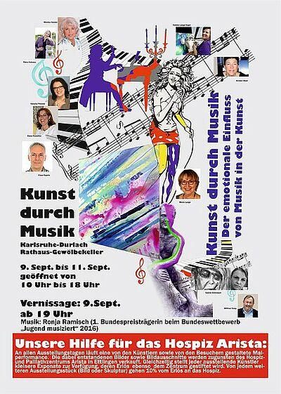 """""""Kunst durch Musik"""" – Der emotionale Einfluss von Musik in der Kunst. Grafik: pm"""