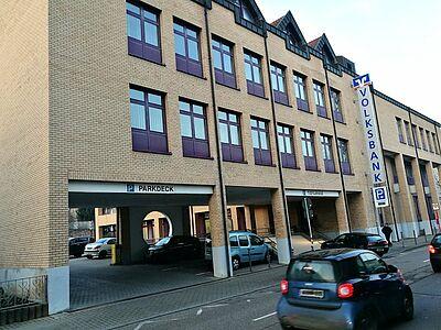 Hauptstelle Volksbank Durlach: Abriss und Neubau. Foto: om
