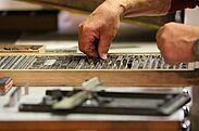 Druckerei-Werkstatt des Pfinzgaumuseums. Foto: cg