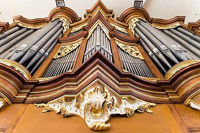 Orgel der Stadtkirche Durlach beim Tag des offenen Denkmals (2018). Foto: cg