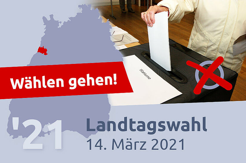 Landtagswahl 2021: Wählen gehen! Grafik: cg