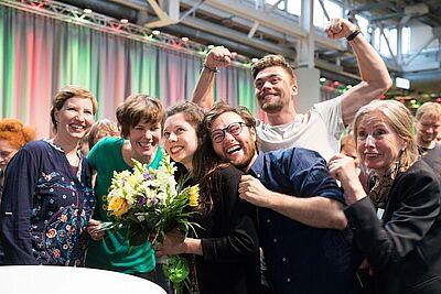 Erleichterung und pure Freude im Moment der Ergebnis-Bekanntgabe. Fotos: cg