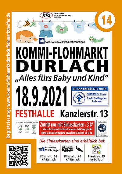 """Nachholtermin: 14. Durlacher Kommissionsflohmarkt """"Alles vom Baby bis zum Kind"""" Grafik: pm"""