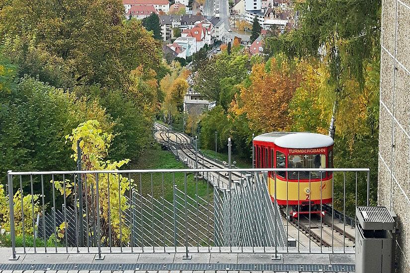 Die Durlacher Turmbergbahn wechselt ab Montag in den Winterfahrplan. Foto: cg