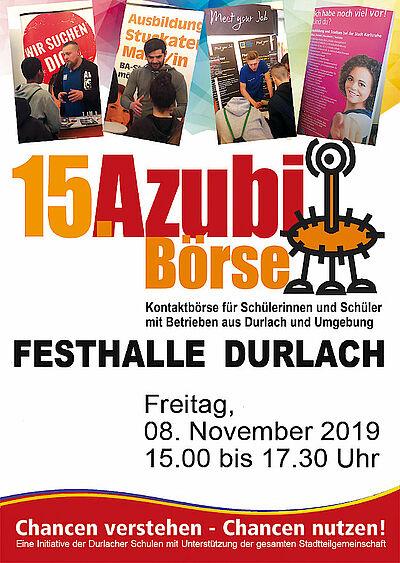 Durlacher Azubibörse am 8. November 2019. Grafik: pm