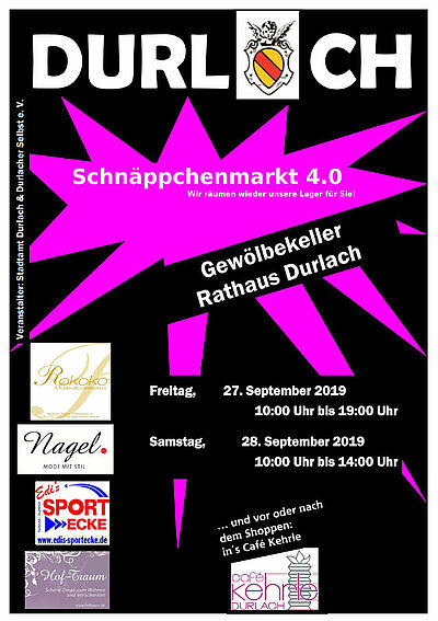 Durlacher Schnäppchenmarkt 4.0. Grafik: pm