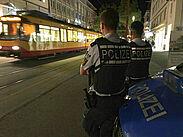 Die Verkehrsbetriebe und das Polizeipräsidium Karlsruhe führten gestern Abend eine weitere Schwerpunktkontrolle durch. Foto: pol