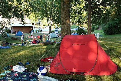 ABC im Wölfle: Aqua-Ball und Camping. Foto: pm
