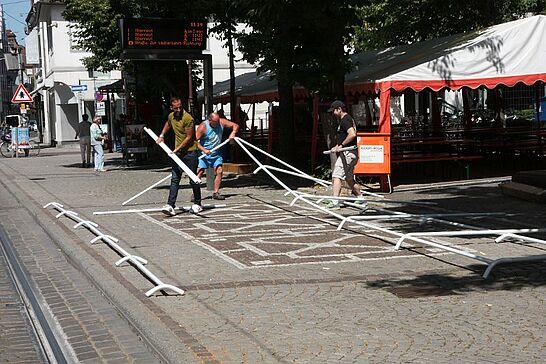 05 Durlacher Altstadtfest – Aufbau - Durlacher.de begleitete mit der Kamera die unzähligen Helfer beim Aufbau des 43. Durlacher Altstadtfests. (38 Fotos)