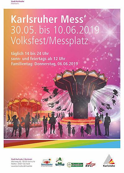 Karlsruher Frühjahrsmess' vom 30. Mai bis 10. Juni 2019. Grafik: pm