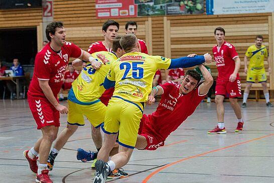 27 Handball Landesliga: Turnerschaft Durlach – HC Neuenbürg 2 - Die Herren 1 der Turnerschaft trafen am Samstagabend auf die Badenliga-Reserve des HC Neuenbürg. (63 Fotos)