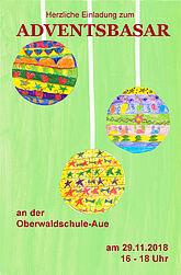 Adventsbasar an der Oberwaldschule. Grafik: pm