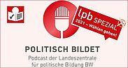 POLITISCH BILDET – Landtagswahl 2021 spezial in Leichter Sprache. Grafik: LpB BW