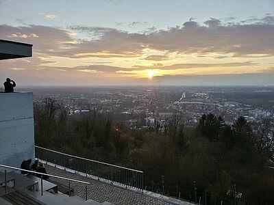 Wieder Stadtdenker in Durlach zu Gast – Blick vom Turmberg. Foto: cg