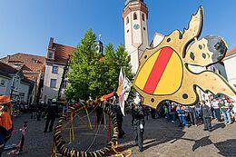 Maibaumstellen Durlach 2019. Foto: cg