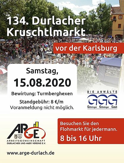 Kruschtlmarkt vor der Karlsburg. Grafik: pm
