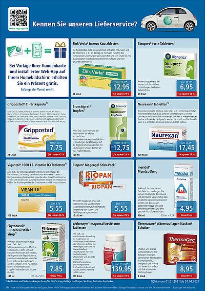Rundum gesund Apotheken: Angebote im Januar 2021. Grafik: pm