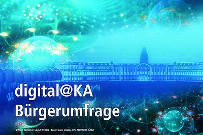 """Zur Entwicklung der Multifunktions-App """"digital@KA"""" ist die Meinung von Karlsruherinnen und Karlsruhern gefragt. Grafik: Stadt Karlsruhe"""
