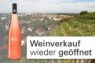 Staatsweingut Karlsruhe-Durlach: Weinverkauf wieder ab 6. April 2020. Grafik: cg