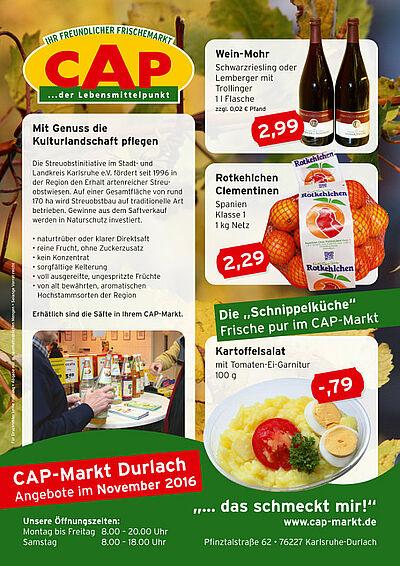 CAP-Markt: Angebote im November 2016