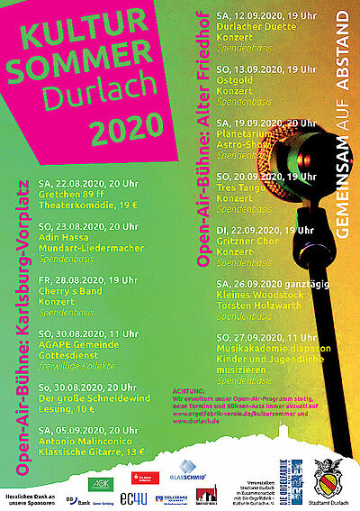 Startschuss zum Durlacher Kultursommer. Grafik: pm/cg